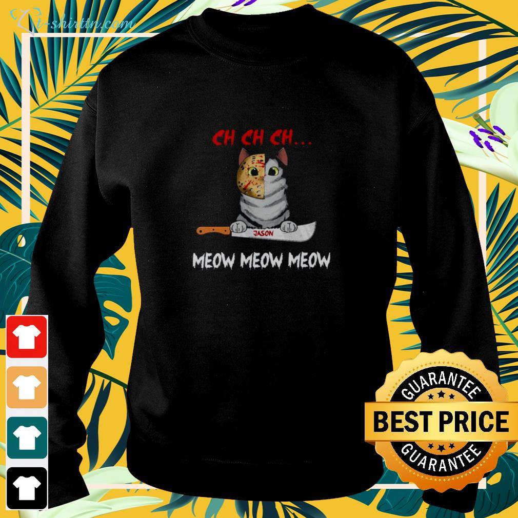 Cat Jason Voorhees Ch Ch Ch Meow Meow Meow Halloween sweater
