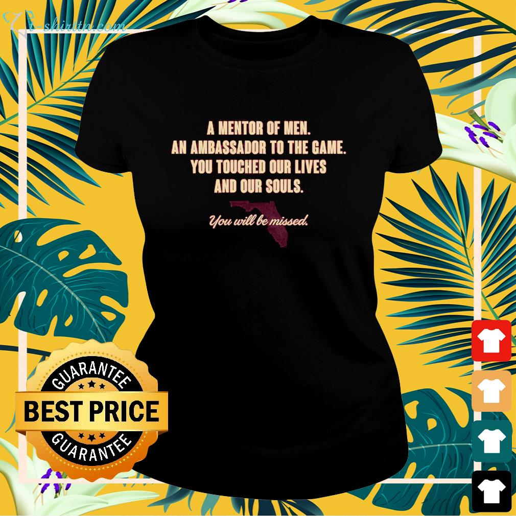 Coach Bowden Memoriam for Florida State Back  ladies-tee