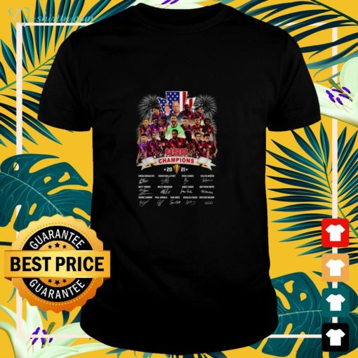 Concacaf Gold Cup USA Champion 2021 signatures shirt