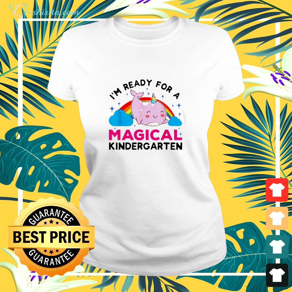 Dolphin ready for a magical kindergarten ladies-tee