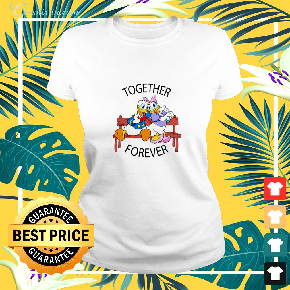 Donald And Daisy Together forever ladies-tee