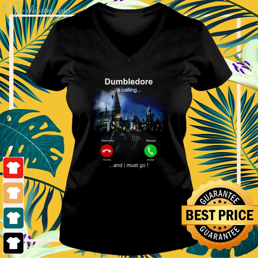 Dumbledore is calling and I must go v-neck t-shirt