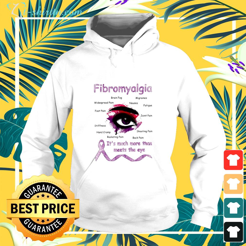 Fibromyalgia it's much more than meets the eye hoodie