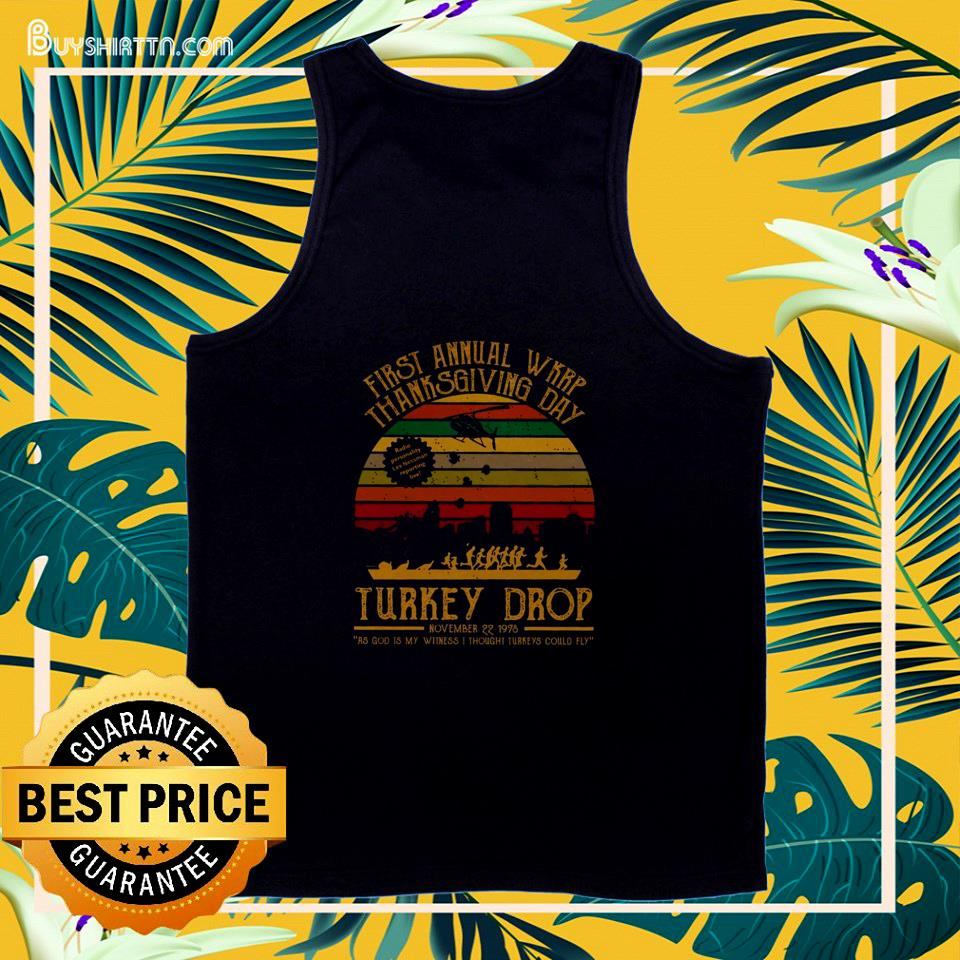 First annual WKRP Thanksgiving day turkey drop vintage tank top