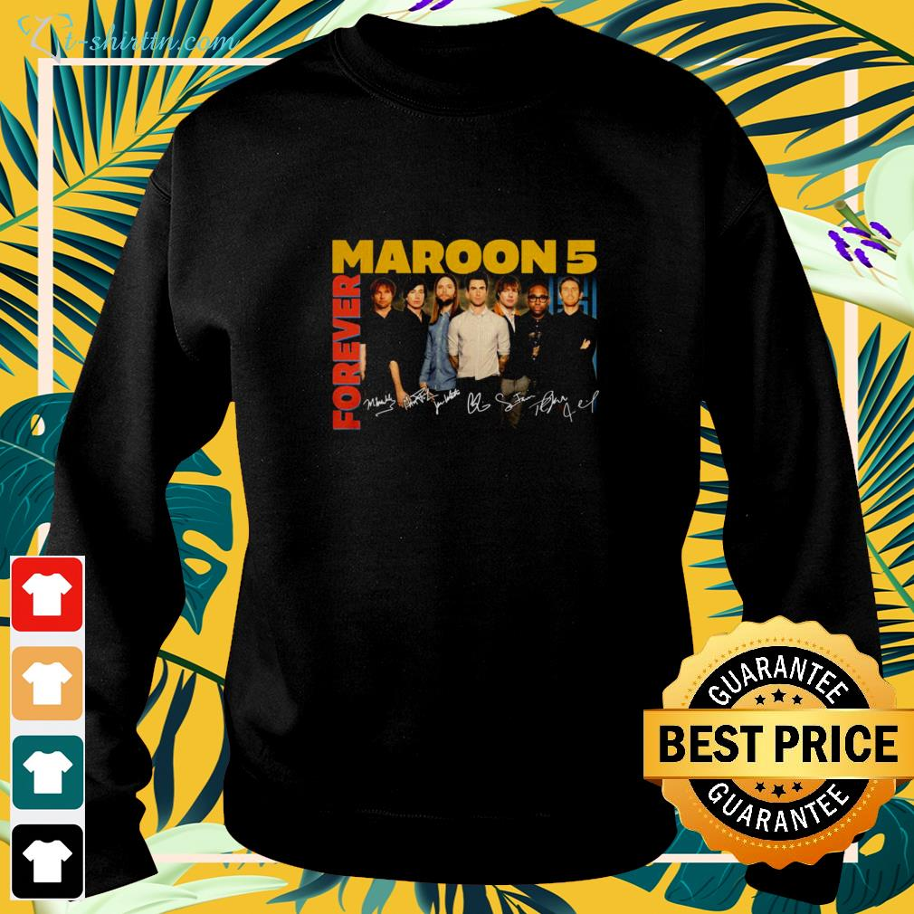 Forever Maroon 5 Bans signatures sweater