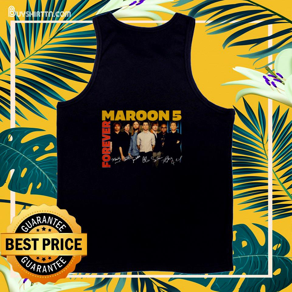 Forever Maroon 5 Bans signatures tank top