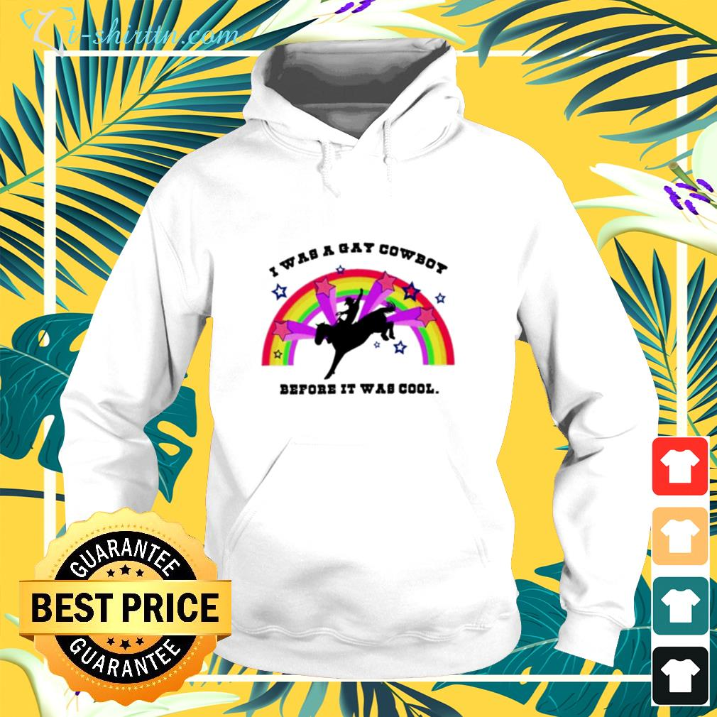 I was a gay cowboy before it was cool hoodie