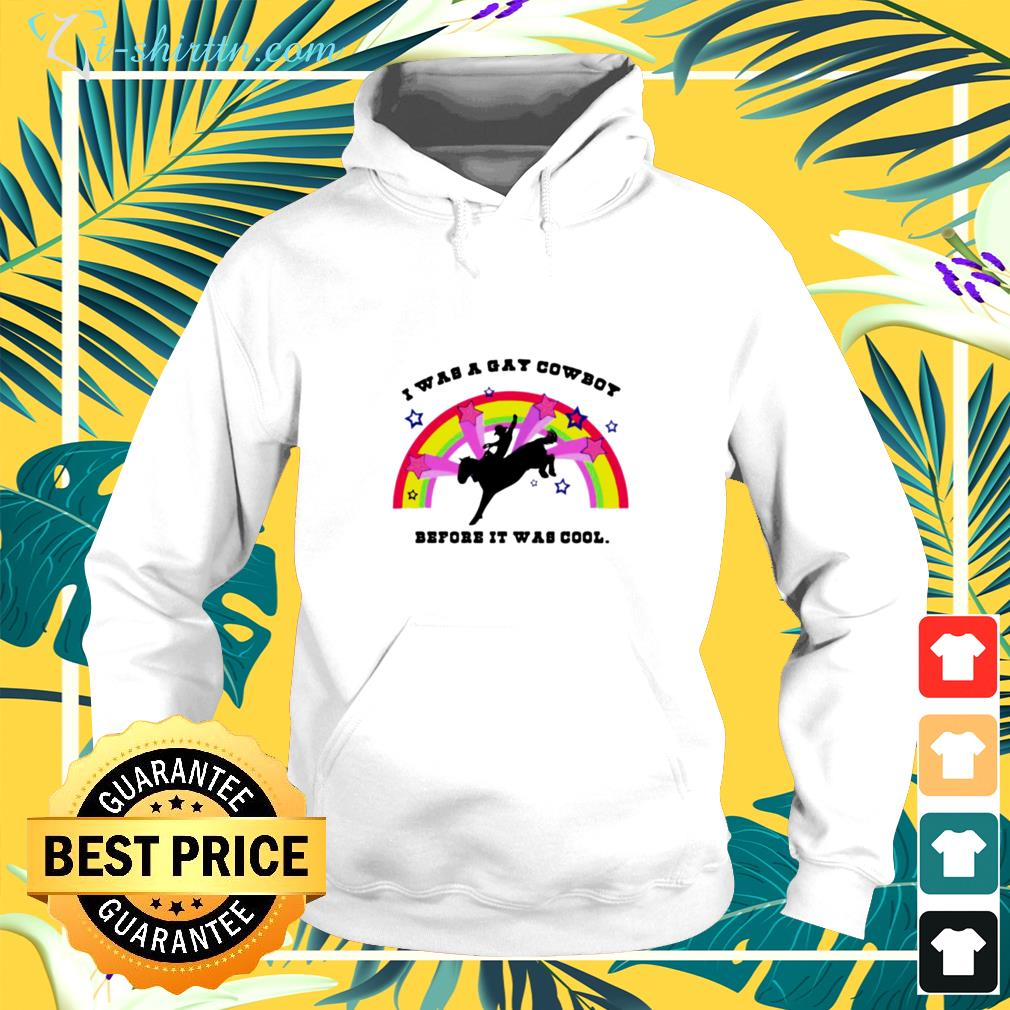 I was a gay cowboy before it was cool rainbow hoodie