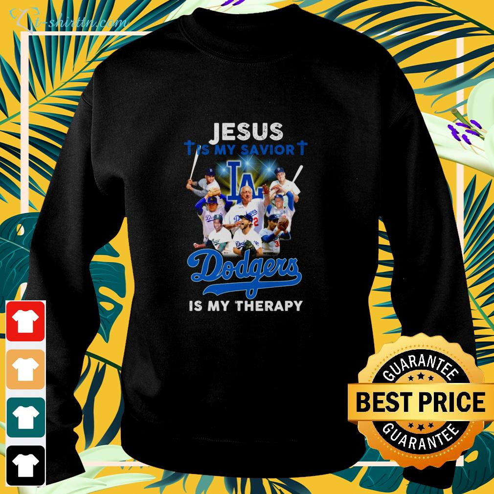 Jesus is my savior Los Angeles Dodgers is my therapy sweater