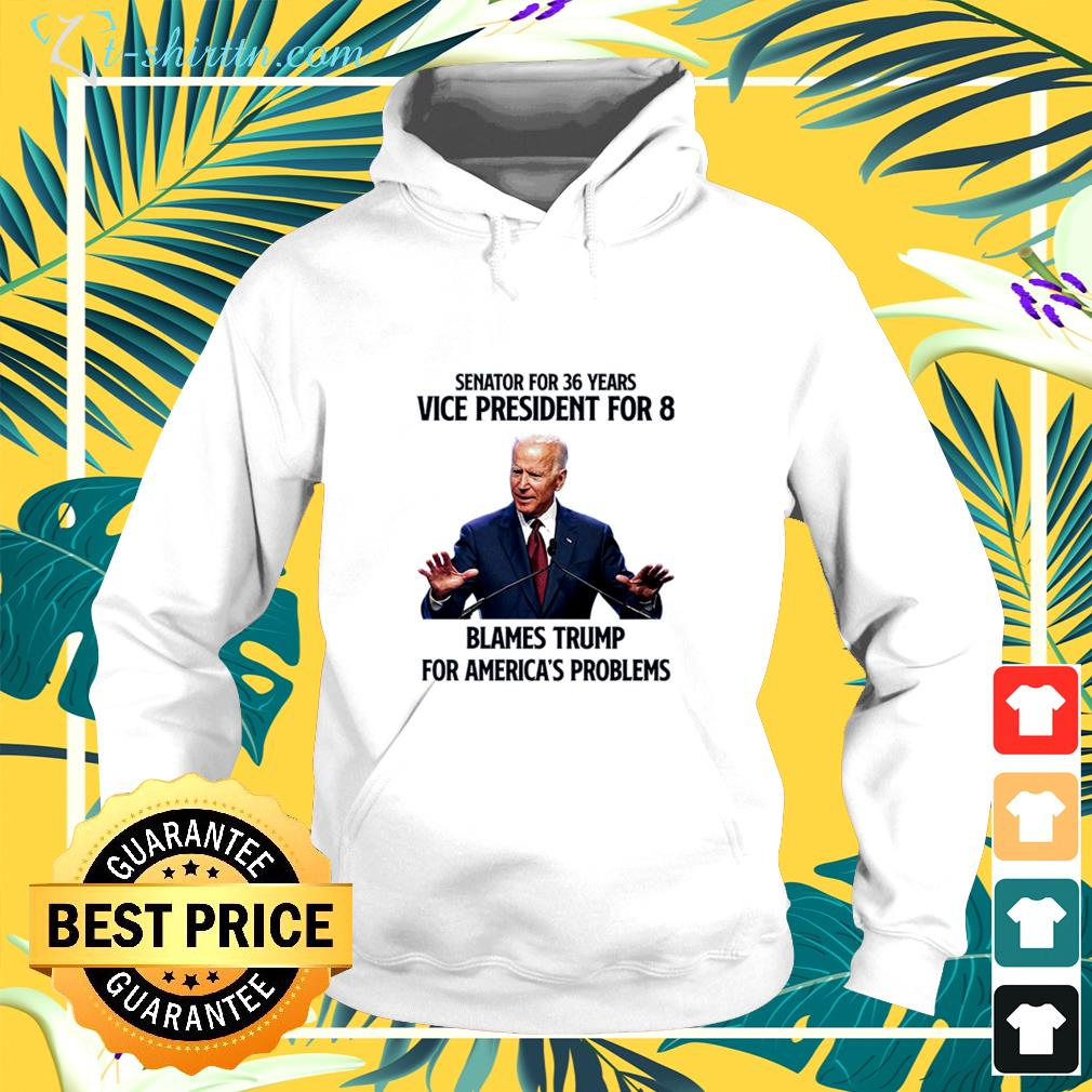 Joe Biden senator for 36 years vice president for 8 blames trump for Ameica's problems hoodie