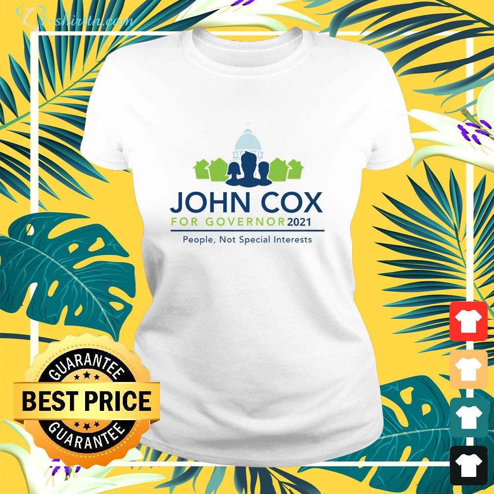 John Cox for Governor 2021 Governor Of California ladies-tee