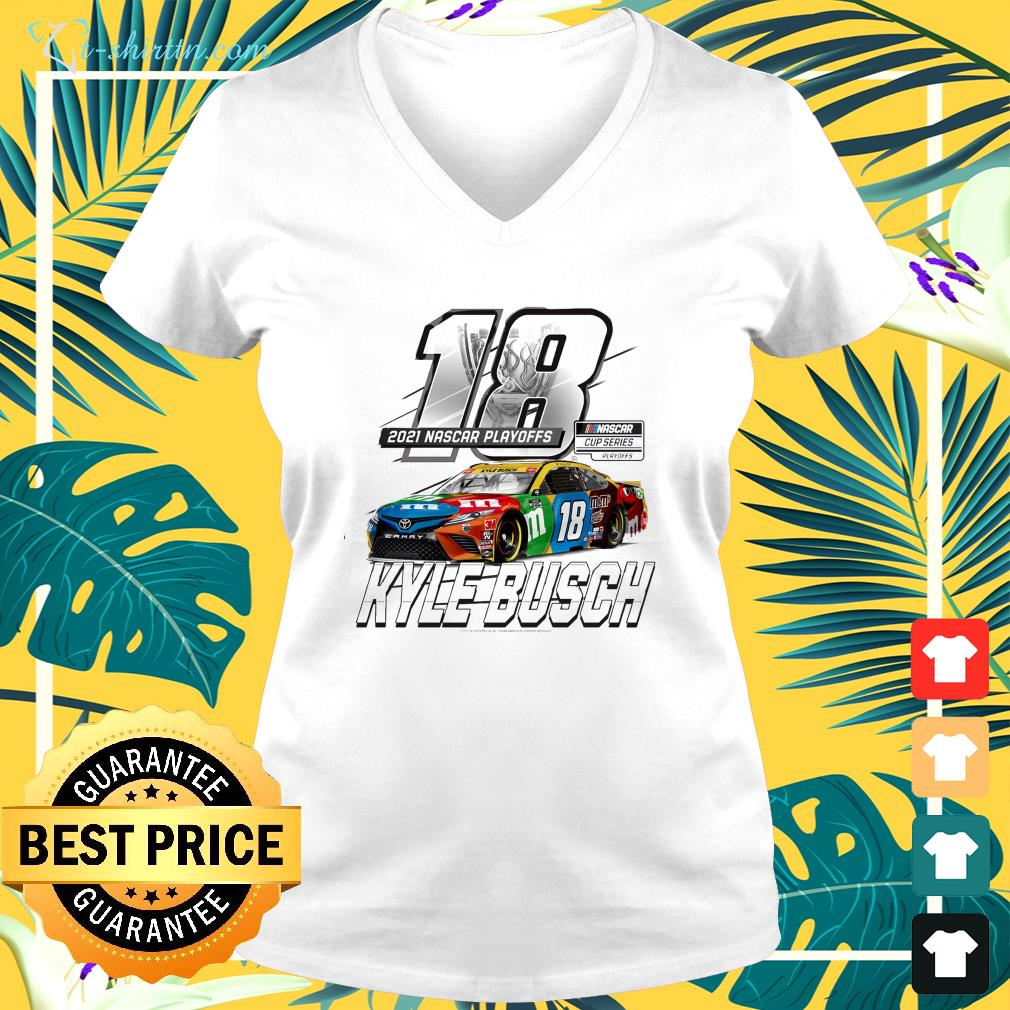 Racing Team Collection 2021 NASCAR Cup Series Playoffs v-neck t-shirt