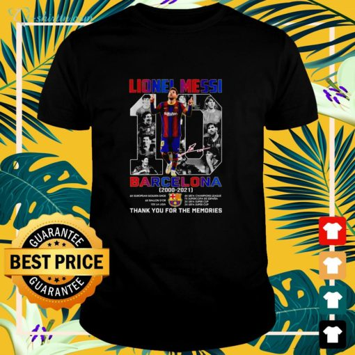 Lionel Messi #10 Barcelona 2000 2021 thank you for the memories shirt