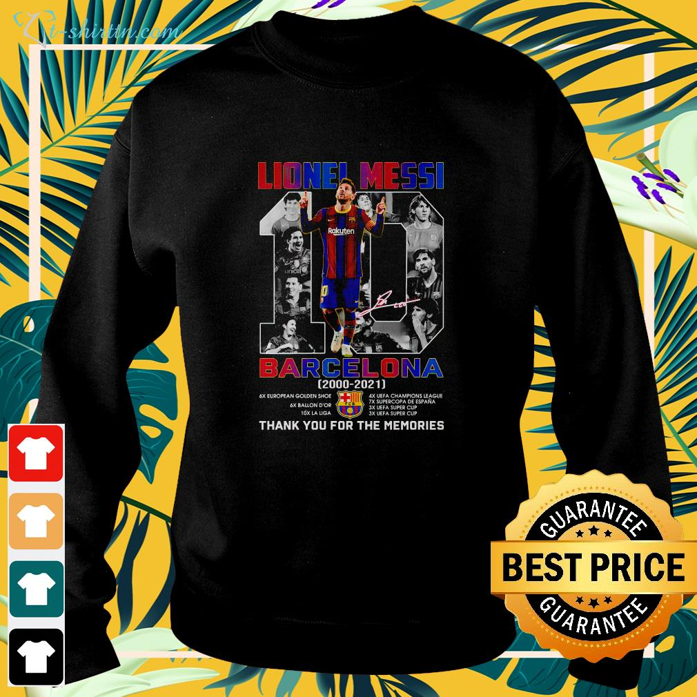 Lionel Messi #10 Barcelona 2000 2021 thank you for the memories sweater