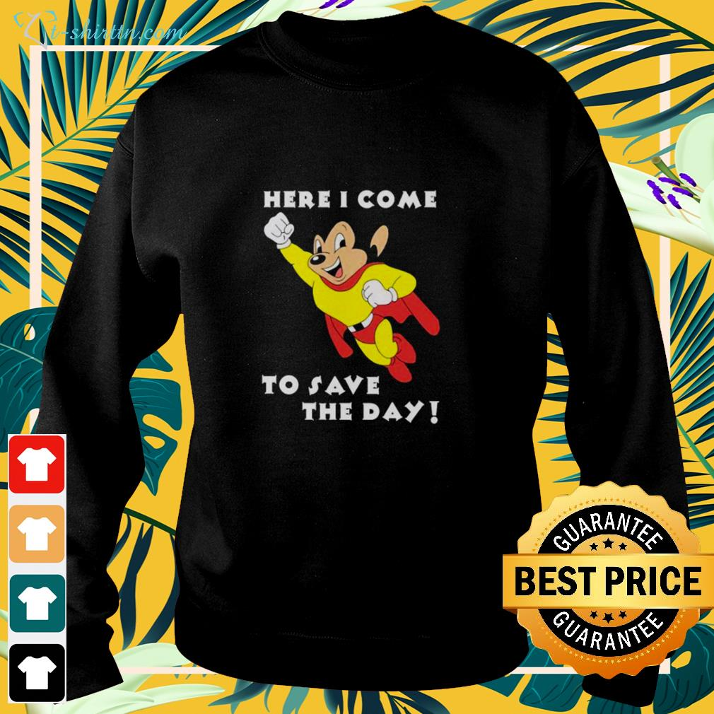 Mighty Mouse Here I come to save the day sweater