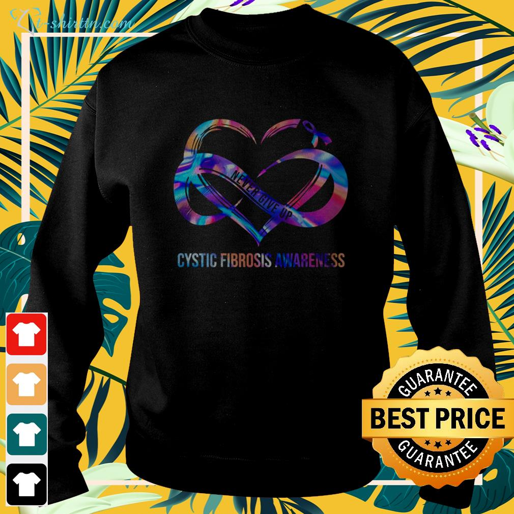 Never give up cystic fibrosis awareness sweater