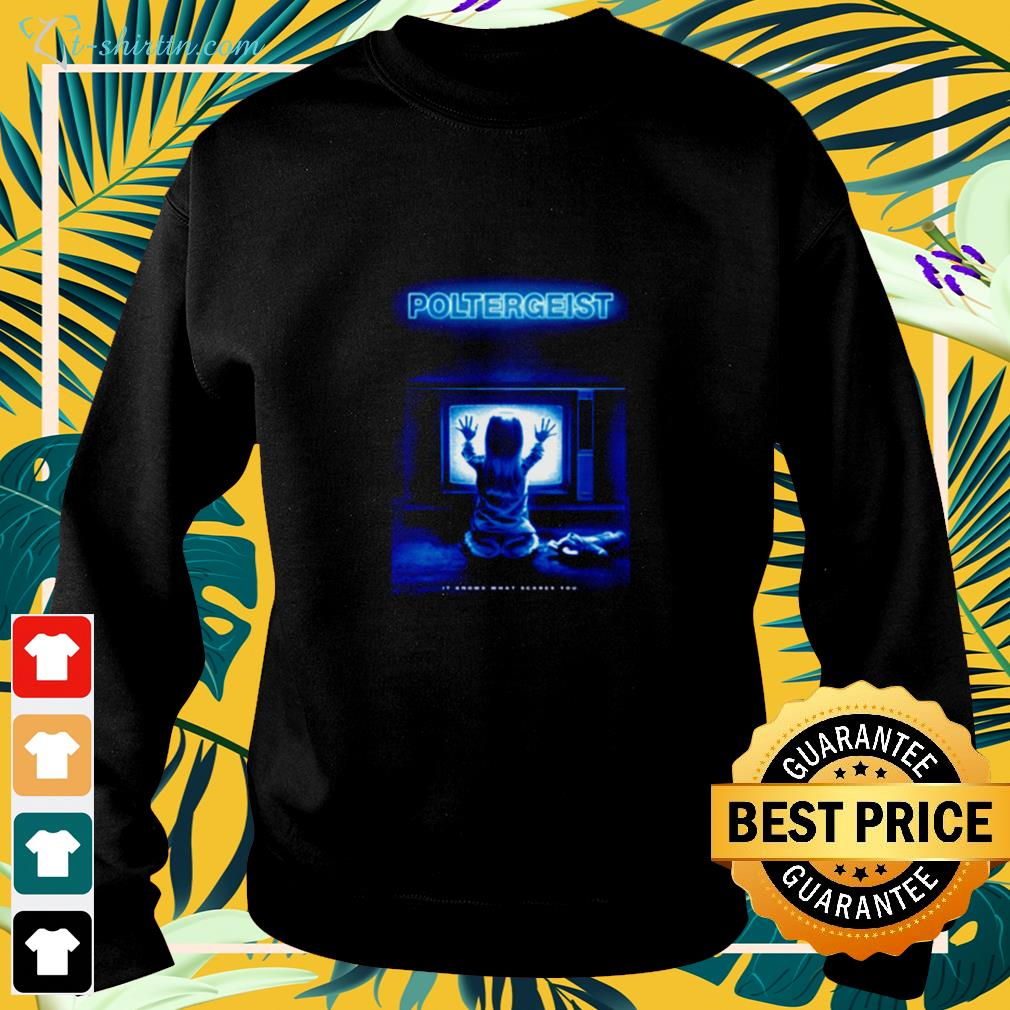 Poltergeist it knows what scares you sweater
