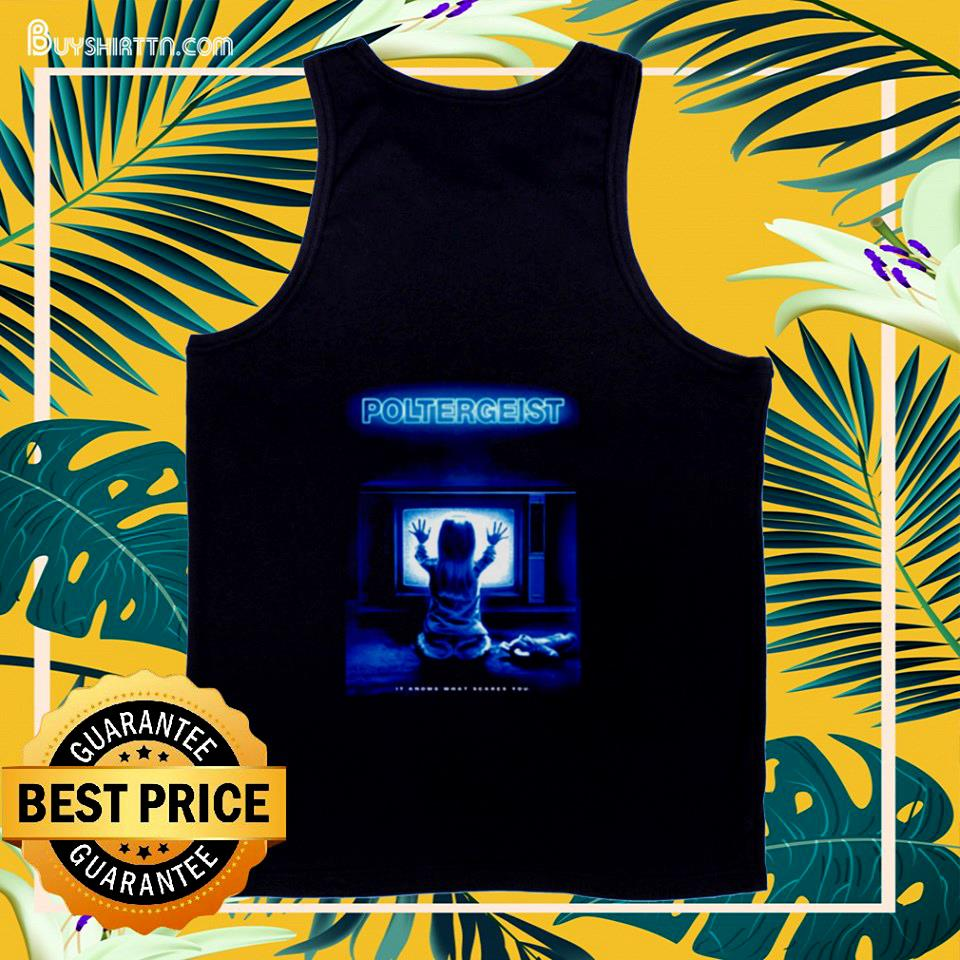 Poltergeist it knows what scares you tank top