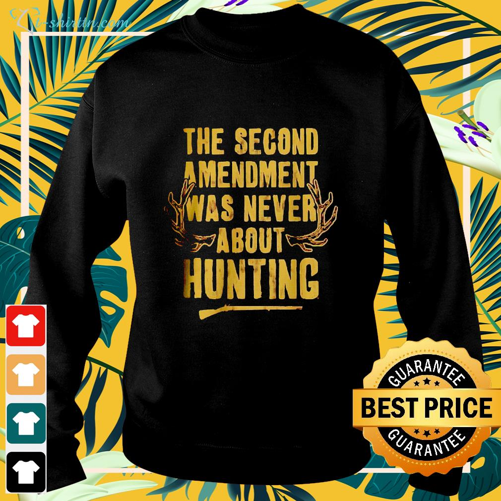 The second amendment was never about hunting sweater