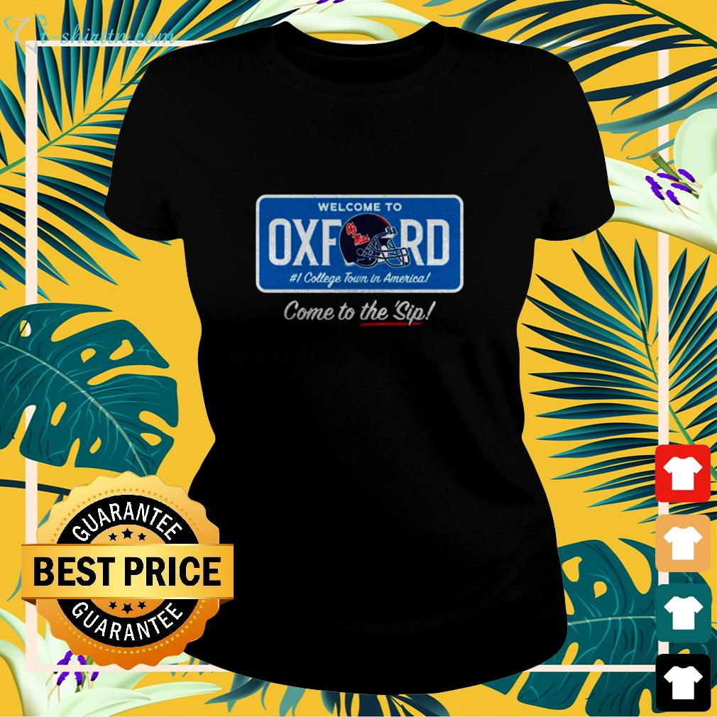 Welcome to Oxford come to the sip ladies-tee