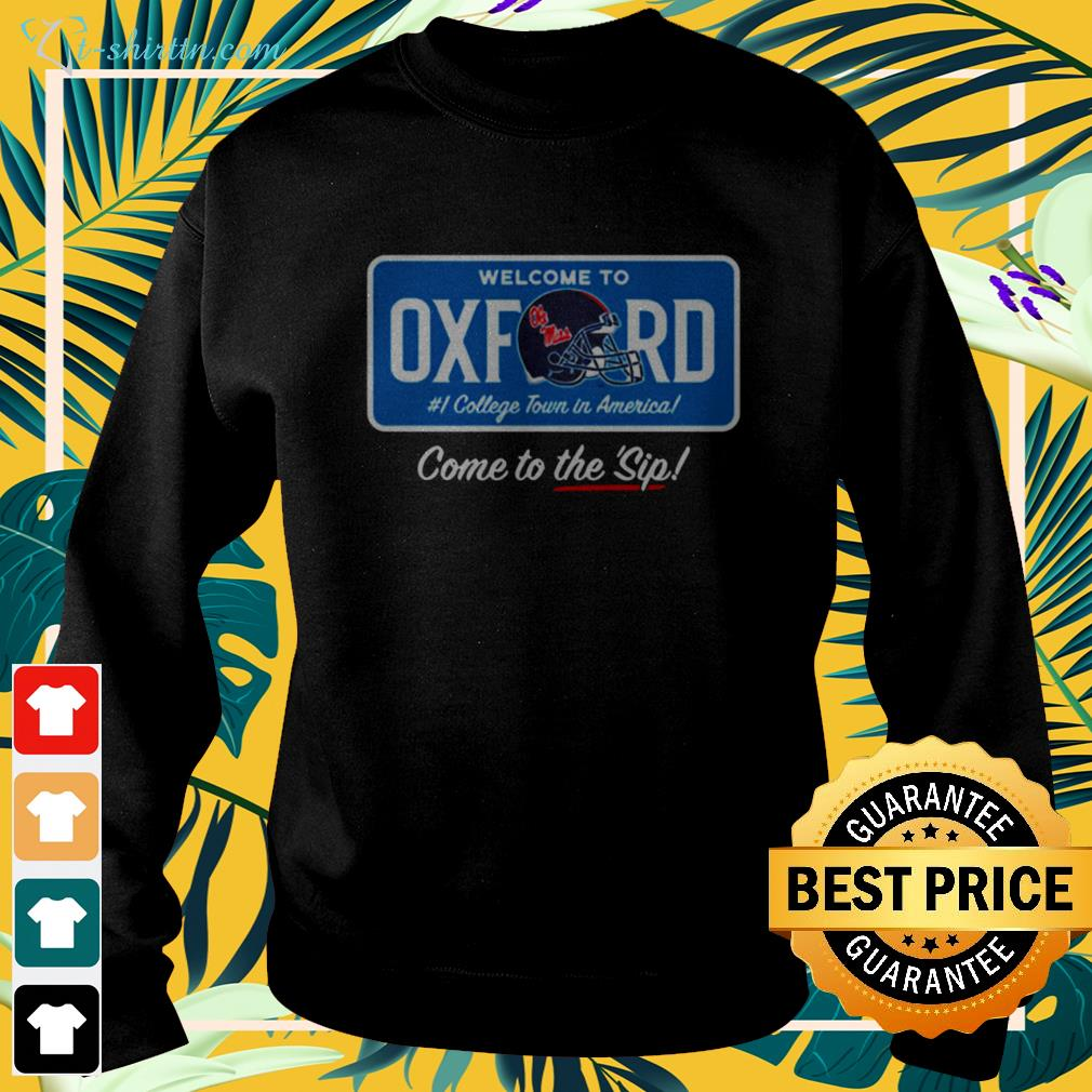 Welcome to Oxford come to the sip sweater