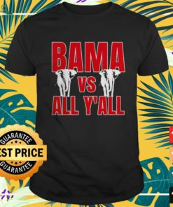 Alabama vs All Y'all The tide is Crimson shirt