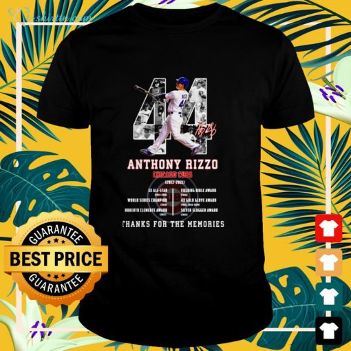 Anthony Rizzo Chicago Cubs 2012-2021 signature shirt