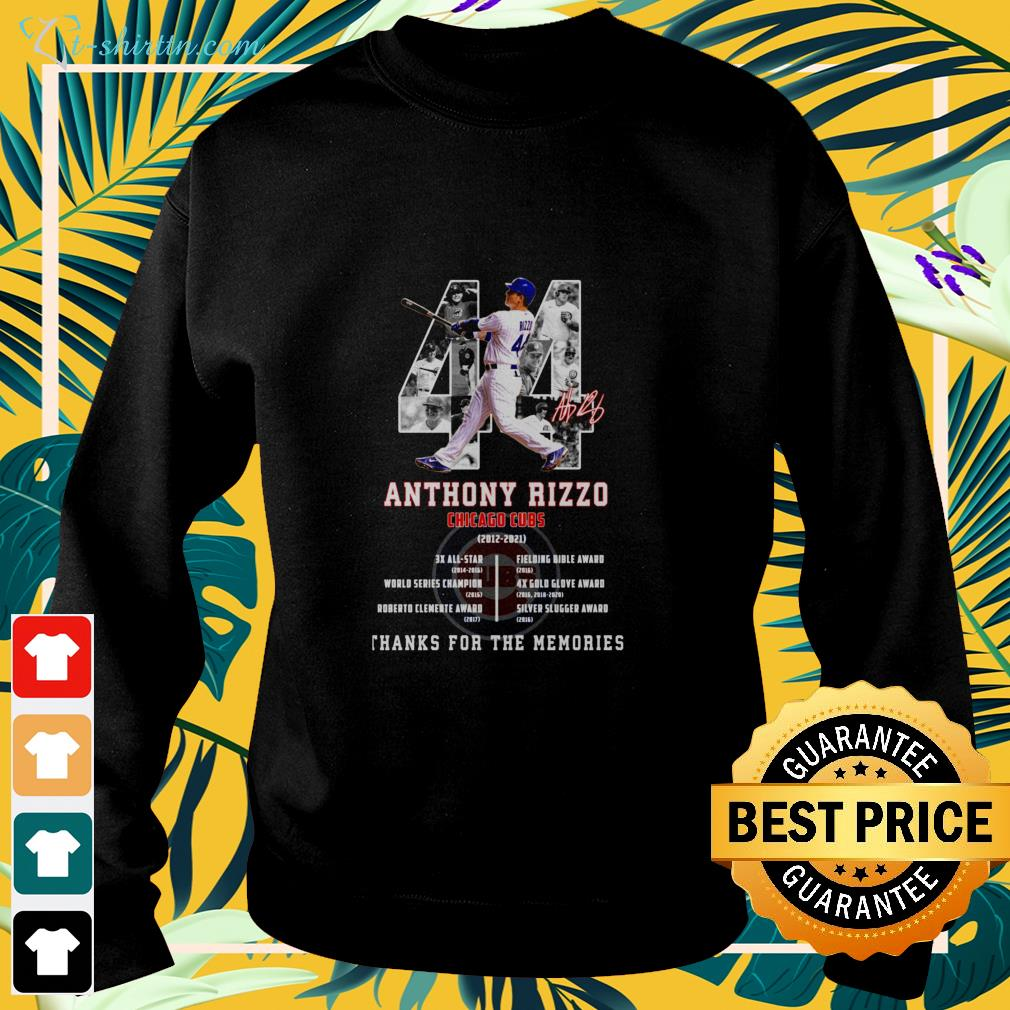 Anthony Rizzo Chicago Cubs 2012-2021 signature sweater