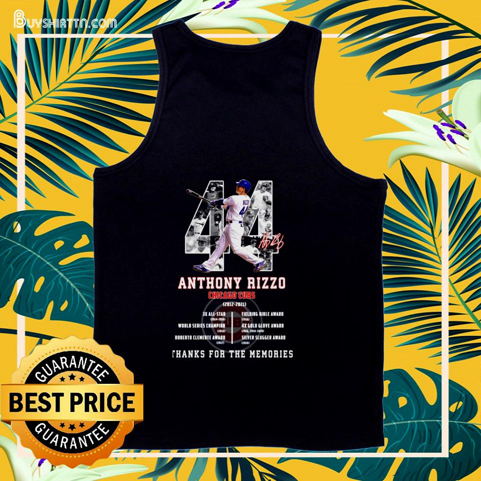 Anthony Rizzo Chicago Cubs 2012-2021 signature tank top