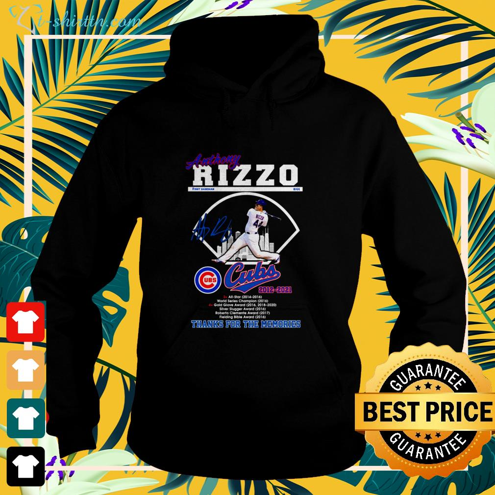 Anthony Rizzo Cubs 2012-2021 signature  hoodie