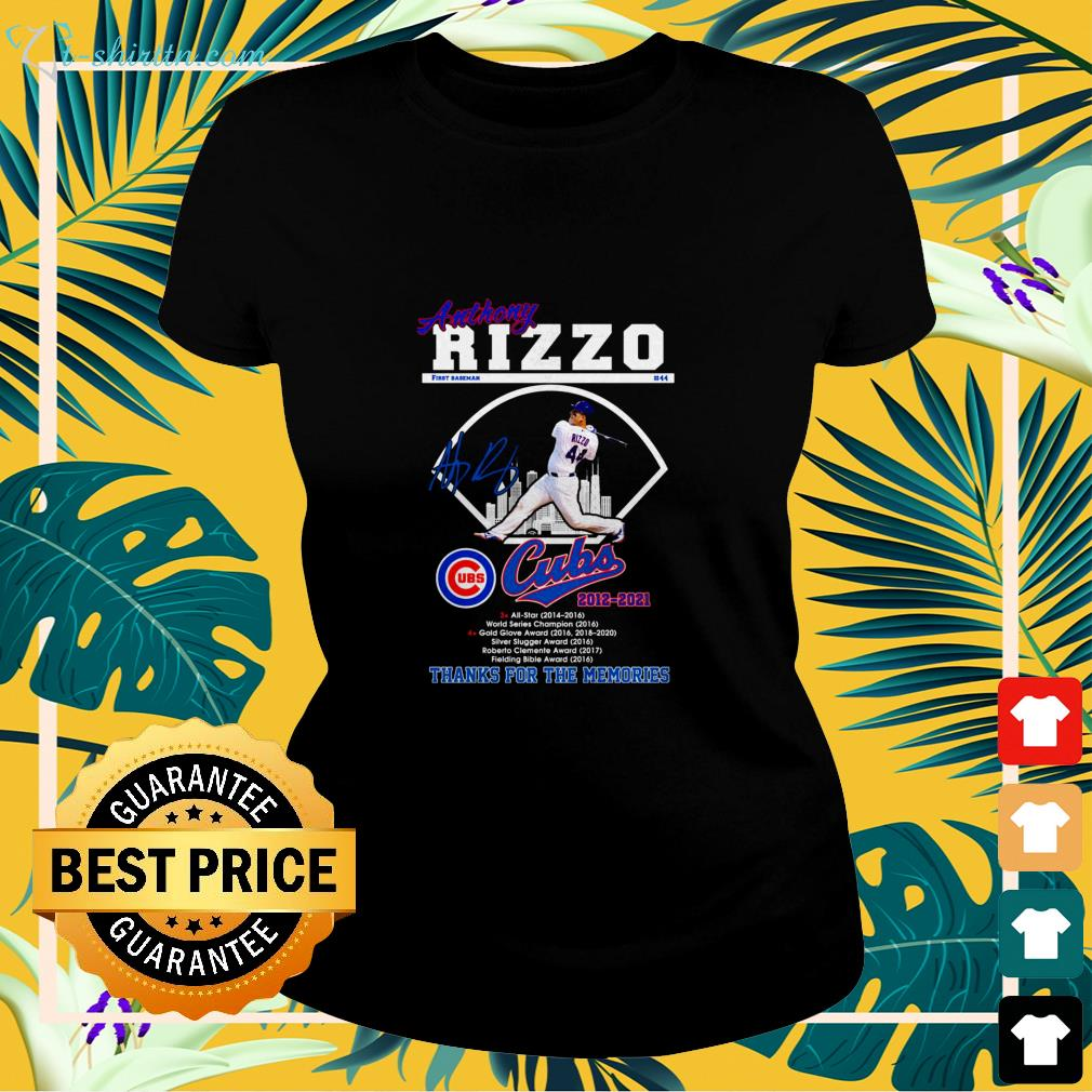 Anthony Rizzo Cubs 2012-2021 signature ladies-tee