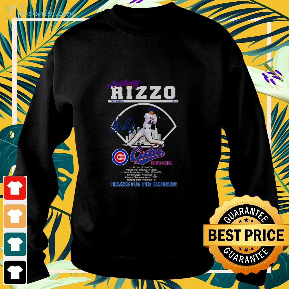 Anthony Rizzo Cubs 2012-2021 signature sweater