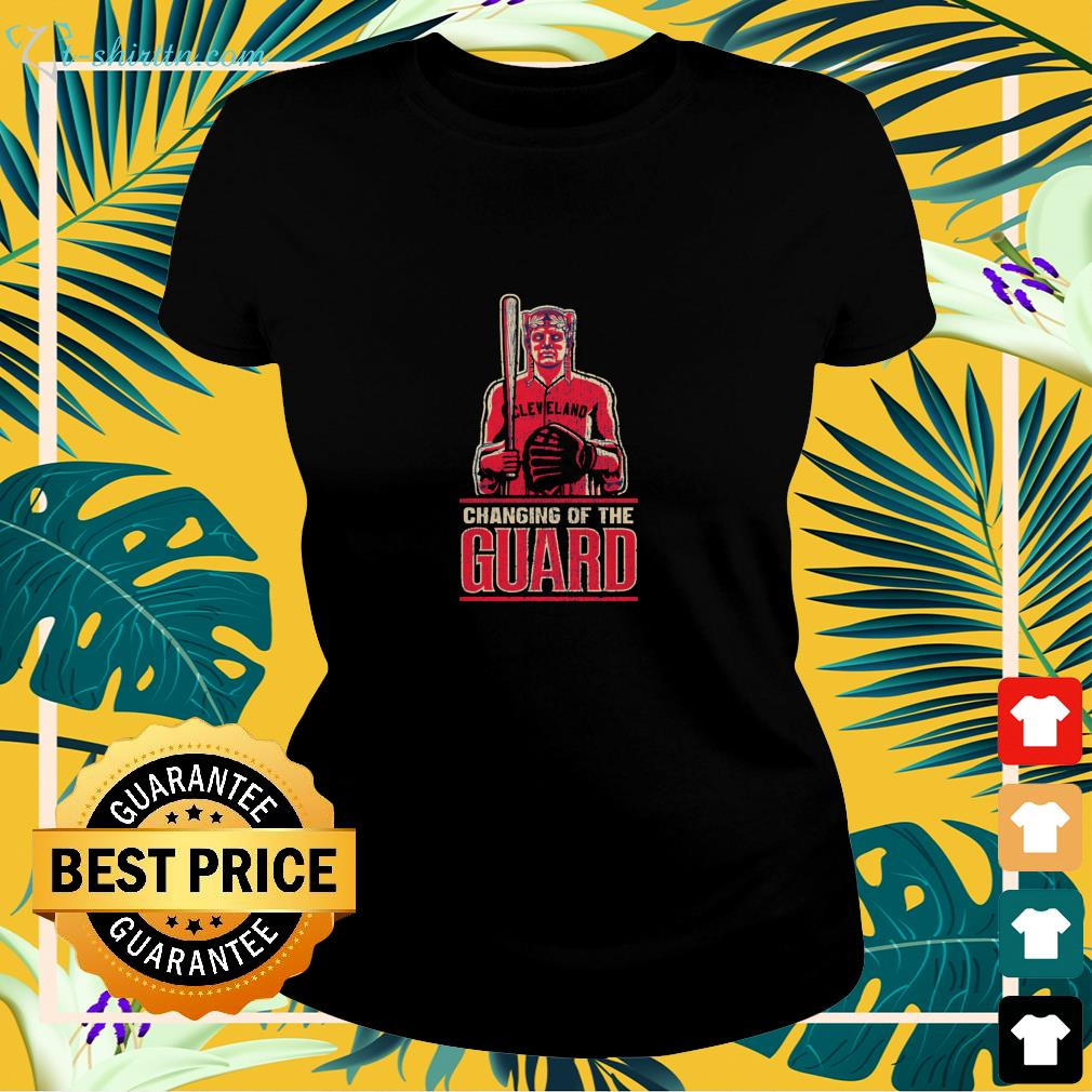 Cleveland baseball changing of the Guard ladies-tee