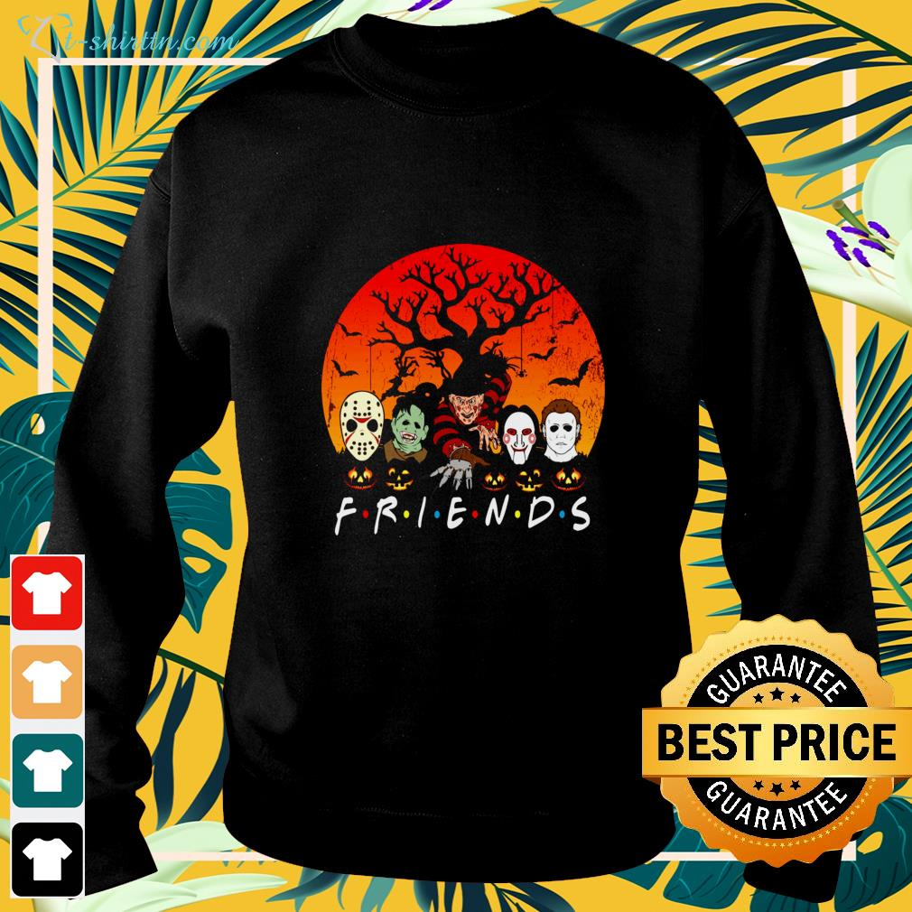Halloween friends characters horror movie sweater