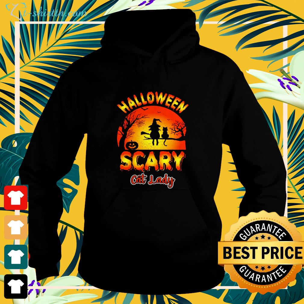 Halloween scary cat lady cat lover hoodie