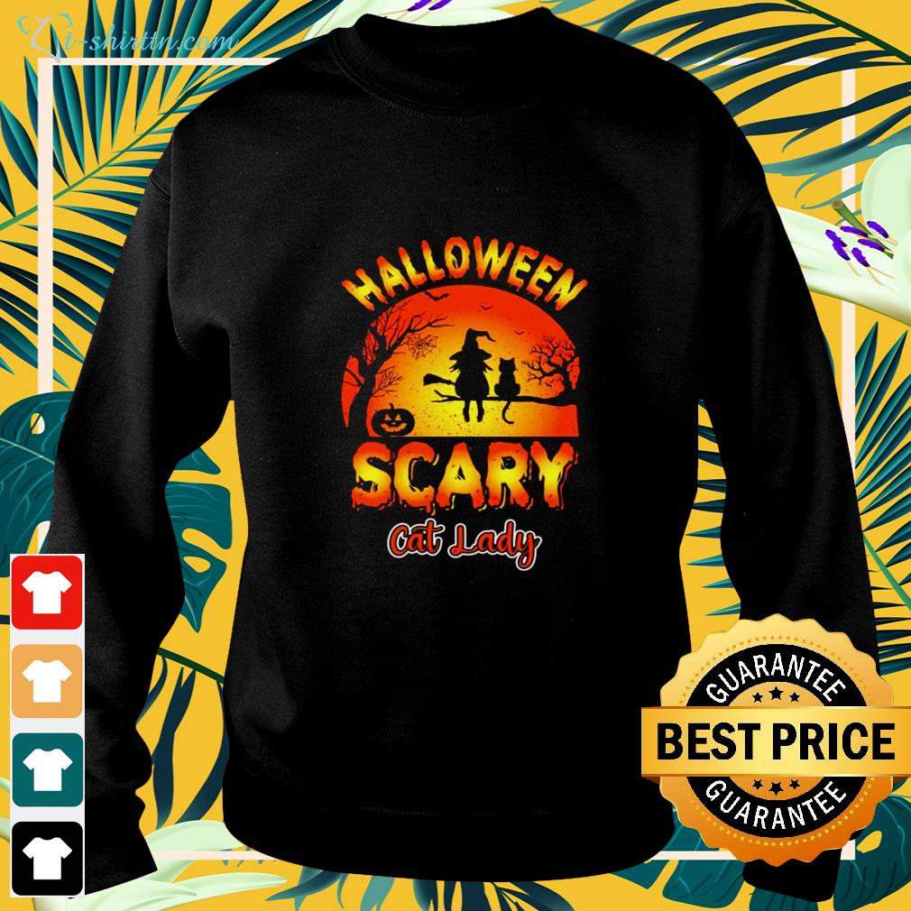Halloween scary cat lady cat lover sweater