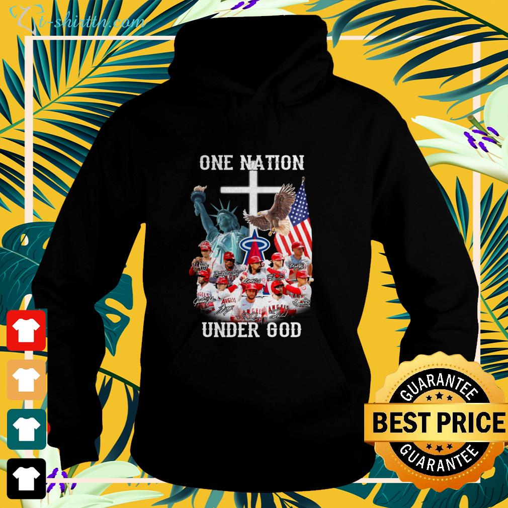 Los Angeles Angels one nation under god signatures hoodie