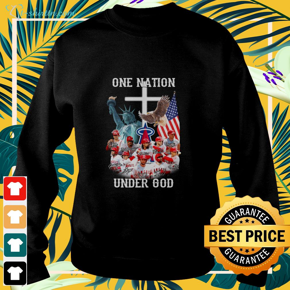 Los Angeles Angels one nation under god signatures sweater