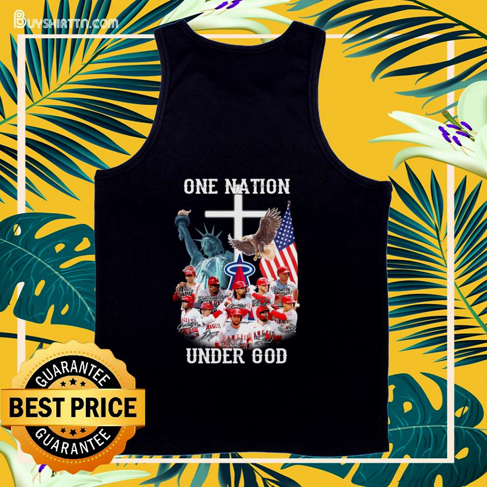 Los Angeles Angels one nation under god signatures  tank top