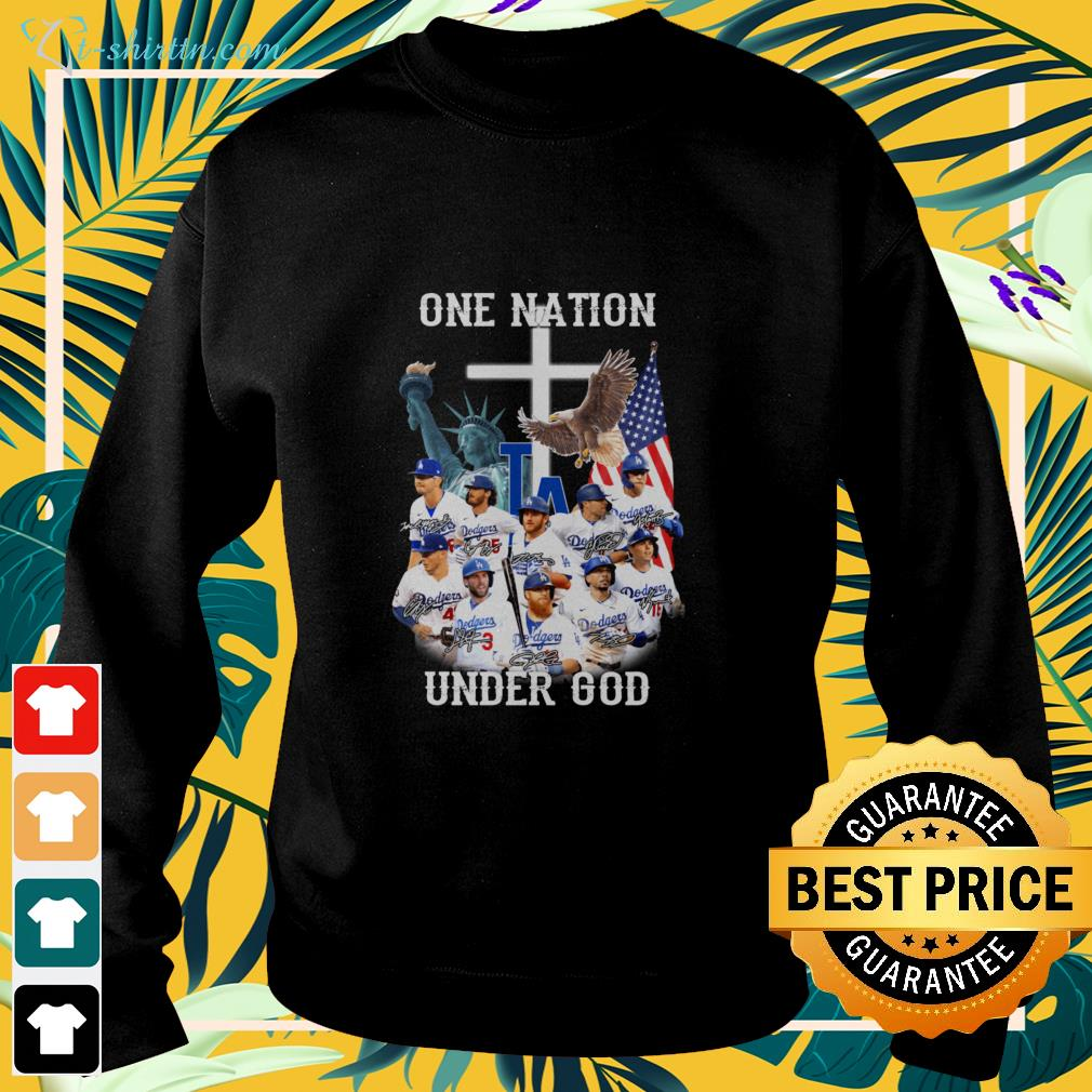Los Angeles Dodgers one nation under god signatures  sweater