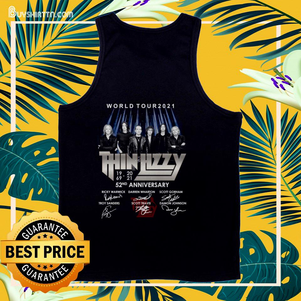 Thin Lizzy 52nd anniversary signatures tank top